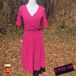 T Flare Crossover Dress Stretch Pullover Jersey S